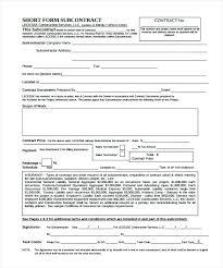 Sample Subcontractor Agreement Best Subcontractor Agreement Template Pdf Free Contractor Agreement