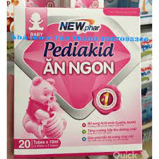 Pediakid Ăn ngon ngủ ngon cho bé khỏe mạnh Hộp 20 ống