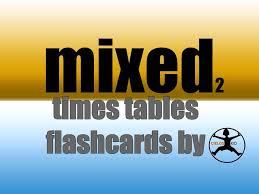 Mixed times tables flashcards, set 2 - YouTube