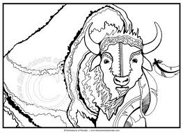 Small Picture coloring pages indians hunting buffalo hunting coloring page