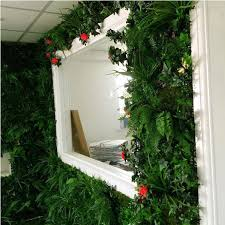 artificial green wall panel with mixed