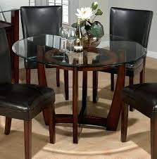 round wooden dining table with glass top interior lovely round glass top dining table set modern round wooden dining table with glass