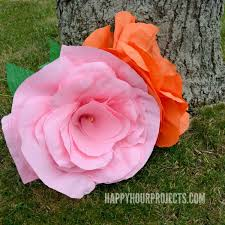 Large Tissue Paper Flower 69 Enticing How To Make Big Paper Flowers