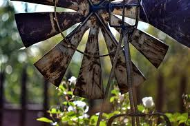 a decorative windmill for your garden