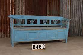 retro vintage antique pine garden bench