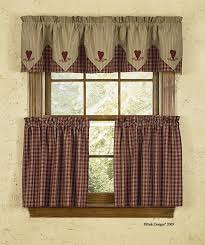 Primitive Country Kitchen Curtains Cortina Estilo Country Ideal Para La Cocina Cortinas Disea Os