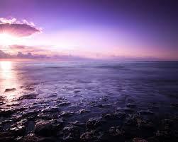 1280x1024 Purple Ocean Stones Sunset Desktop Pc And Mac