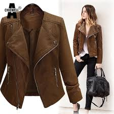 dark brown coat achiewell plus size 5xl winter women pu leather jacket long sleeve slim brown