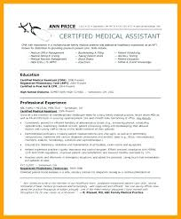 Certified Medical Assistant Resume Gorgeous Dermatology Medical Assistant Resume Mmventuresco