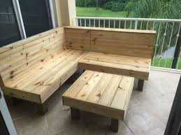 rustic wood patio benches