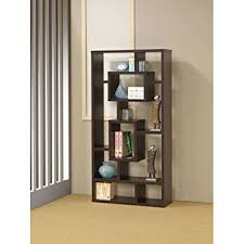 Coaster 800259 Contemporary Bookshelf Display Shelves In Cappuccino