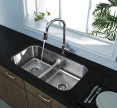 Culinaire™ Top Mount Dual Level Kitchen Sink With Drain Board Kitchen Sink Mounting Clips
