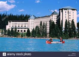 Hotel Castle Blue Canada Alberta Banff National Park The Hotel Castle Lake Louise