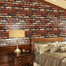3d wall stickers paper brick stone rustic effect self adhesive home decor 45 100cm