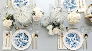 white table settings. A Blue \u0026 White Table Setting For Any Occasion Settings I