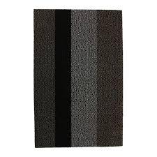 chilewich large stripe rug black grey 46x71cm