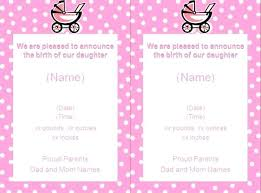 Announcement For Baby Girl Baby Girl Announcement Birth Email To Colleagues Invitation Maker