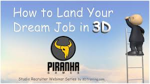 how to land your dream job in d p ha games min highlight how to land your dream job in 3d p ha games 10min highlight