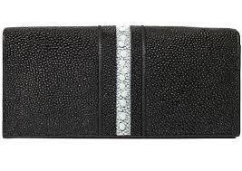 genuine stingray leather wallet st 53 rs black 1