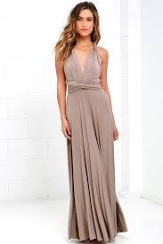 Lulus Size Chart Tricks Of The Trade Taupe Maxi Dress