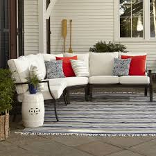 Exterior Blue Sunbrella Replacement Cushions For Exciting Wicker