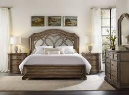 Mirror Furniture Bedroom Hooker Furniture Bedroom Solana King Mirrored Panel Bed 5291 90266