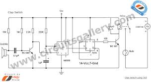 clap switch circuit using ne555 timer ic circuits gallery clap switch circuit diagram