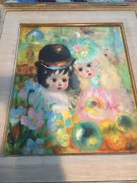i also have a signed poncini paris vintage oil painting of the two little girls does anyone have any idea how much this piece of art is worth thanks