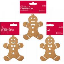 3 wooden shaped gingerbread man bundle