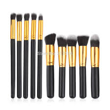 10pcs professional cosmetic makeup brushes set