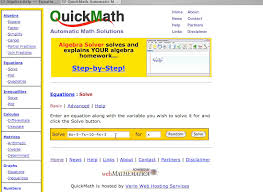 kensmathworld video on some very useful math tools algebrahelp com and quickmath com
