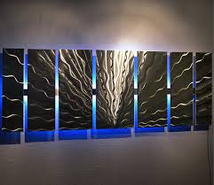 bold inspiration aluminum wall art minimalist modern large abstract metal color changing led sculpture painting decor on abstract metal wall art canada with interesting aluminum wall art best of mod rocks 23 x 46 hand brushed