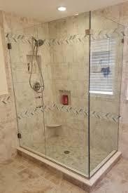 corner shower door frameless clear