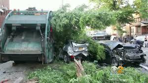 Garbage truck destroys cars, trees on Brooklyn block - Autoblog