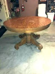 antique round oak dining table antique round oak coffee table photo 4 of 8 pedestal dining