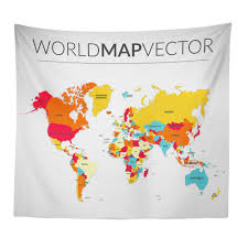 fantnesty world map tapestry beach cover up tunic tapestry tablecloth home decor 150 130