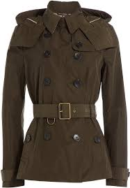 burberry brit waterproof trench jacket with hood