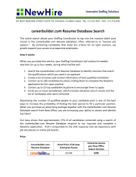 careerbuilder resume search template careerbuilder resume search
