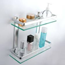 glass shower shelves description glass corner shower shelf