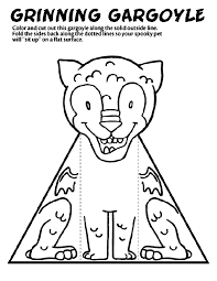Coloring page inspired by the famous cinderella castle, the iconic symbol of the walt disney company, and of disney theme parks. Grinning Gargoyle Coloring Page Crayola Com