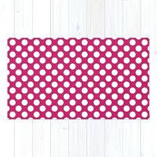 polka dot rug pink