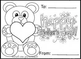 Small Picture Printable happy mothers day teddy bear card coloring in