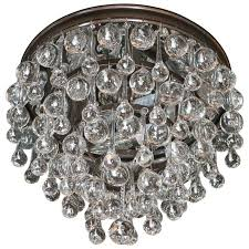 hollywood teardrop and crystal ball chandelier with chrome and handblown glass for