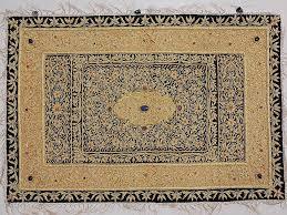 Hanging Rugs Indian Jewel Carpet Ethnic Large Wall Hanging With Gold Zardozi