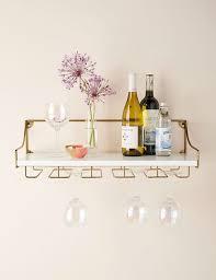 wall mounted wine glass shelf