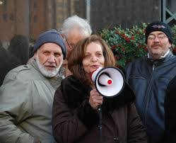 Image result for rasmea odeh with bullhorn