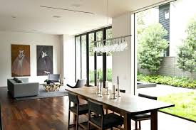 linear chandelier modern dining linear strand crystal chandelier and dining room
