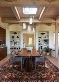 round rug could work for a more playful feel contemporary dining room by susan m stella design
