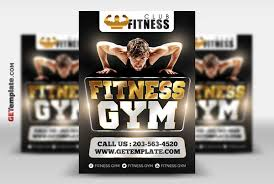 Free Fitness Gym Flyer Template By Getemplate On Deviantart