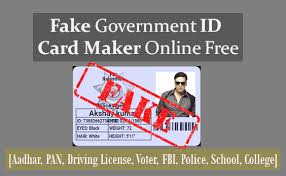 Fake Government Id Card Maker Online Free Aadhar Pan